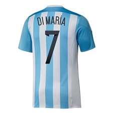 Adidas Argentina 'DI MARIA 7' Home 2015 Soccer Jersey (White/Zenith)