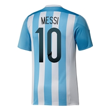 Adidas Argentina 'MESSI 10' Home 2015 Replica Soccer Jersey (White/Zenith)