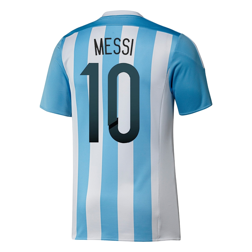 brand new f4cef e461c Adidas Argentina 'MESSI 10' Home 2015 Soccer Jersey (White/Zenith)