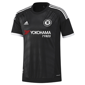 Adidas Chelsea Third '15-'16 Replica Soccer Jersey (Black/White)