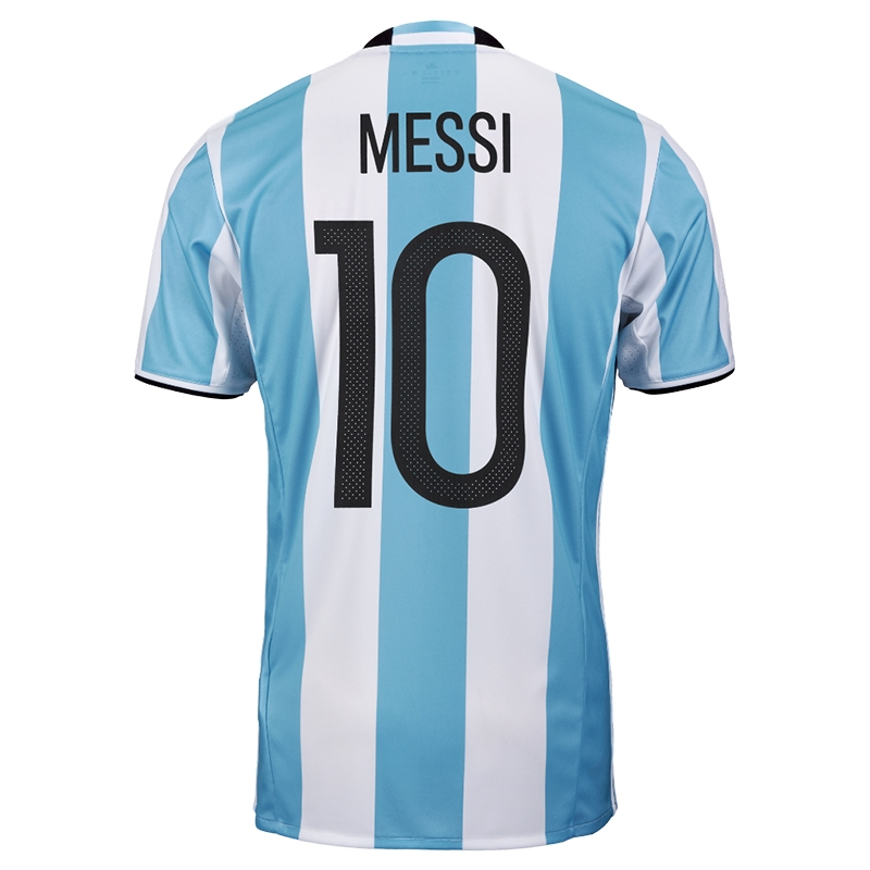 6a6ef319a Adidas  MESSI 10  Argentina Home 2016 Replica Soccer Jersey (Light ...