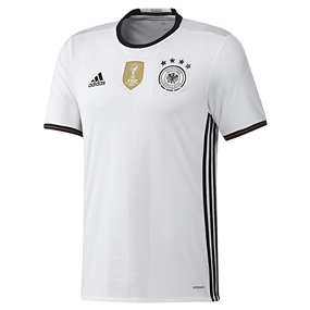 Adidas Germany Home 2015-16 Soccer Jersey (White/Black)