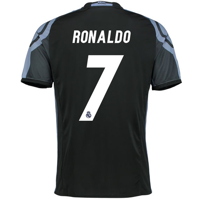 97f07c20807 Adidas Real Madrid  RONALDO 7  Third  16- 17 Soccer Jersey (Black ...