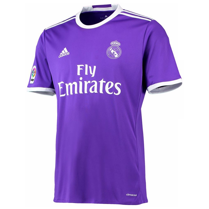 half off cf2d4 f596d Adidas Real Madrid Away '16-'17 Soccer Jersey (Purple/White)