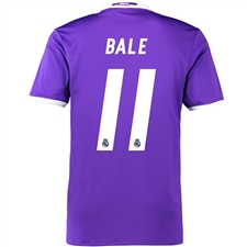 Adidas Real Madrid 'BALE 11' Away '16-'17 Soccer Jersey (Purple/White)