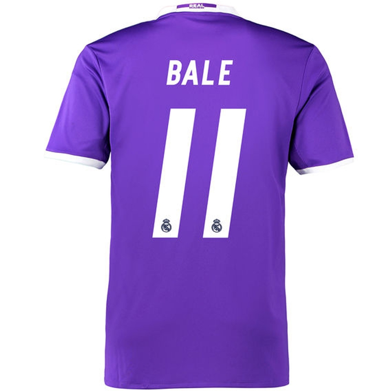 huge selection of 91008 9ead1 Adidas Real Madrid 'BALE 11' Away '16-'17 Soccer Jersey (Purple/White)