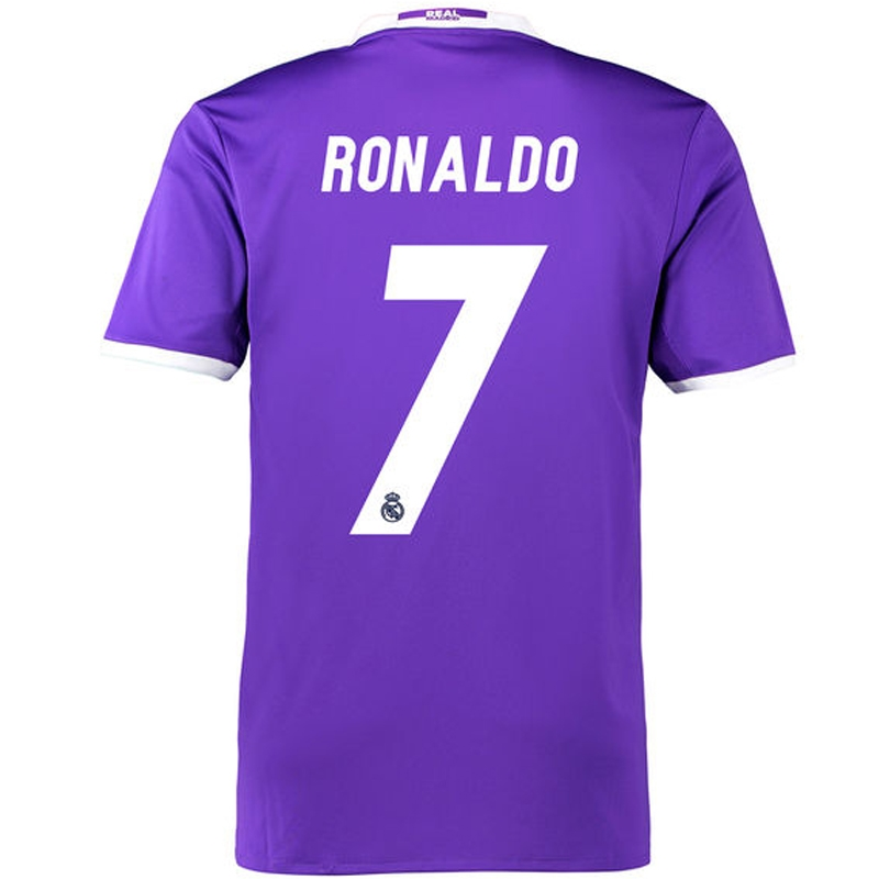 size 40 6069a ebd4d Adidas Real Madrid 'RONALDO 7' Away '16-'17 Soccer Jersey (Purple/White)