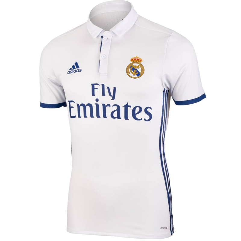 8a8704835db Adidas Real Madrid Authentic Home '16-'17 Soccer Jersey (White/Blue ...