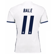Adidas Real Madrid Authentic 'BALE 11' Home '16-'17 Soccer Jersey (White/Blue)