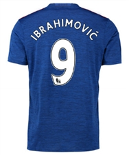 "Adidas Manchester United ""IBRAHIMOVIC 9"" Away '16-'17 Soccer Jersey (Royal Blue/Red)"