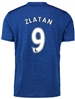 "Adidas Manchester United ""ZLATAN 9"" Away '16-'17 Soccer Jersey (Royal Blue/Red)"