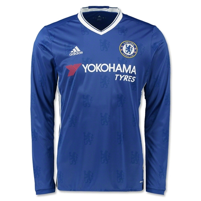 lowest price 04922 b725f Adidas Chelsea Home '16-'17 Long Sleeve Replica Soccer Jersey (Chelsea  Blue/White)