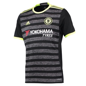Adidas Chelsea Away '16-'17 Soccer Jersey (Black/Grey/Solar Yellow)