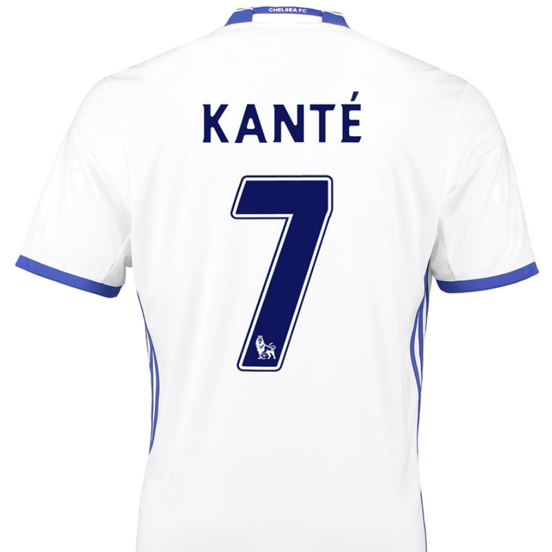 new products ef33b 267d8 Adidas Chelsea 'KANTE 7' Third '16-'17 Soccer Jersey (White/Chelsea Blue)