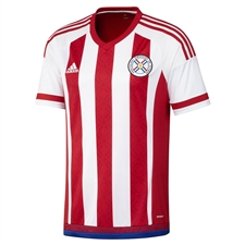 Adidas Paraguay Home 2016 Replica Soccer Jersey (White/Blue/Red)
