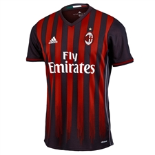 Adidas AC Milan Home '16-'17 Replica Soccer Jersey (Black/Red)