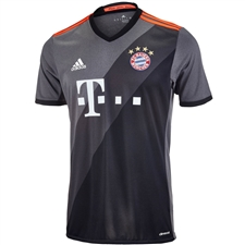Adidas Bayern Munich Away '16-'17 Soccer Jersey (Granite/Solid Gray/Black)