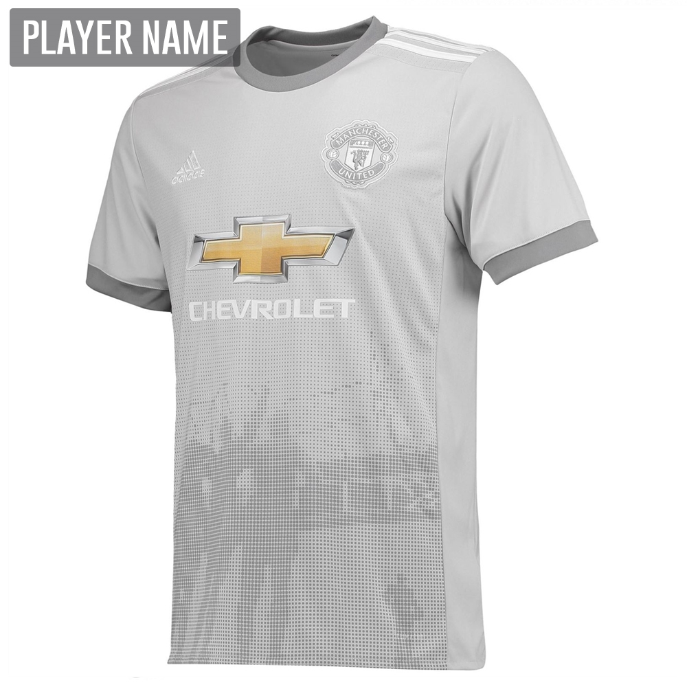 quality design db8ae df4be Adidas Manchester United Third '17-'18 Soccer Jersey (Solid Grey/White/Grey)