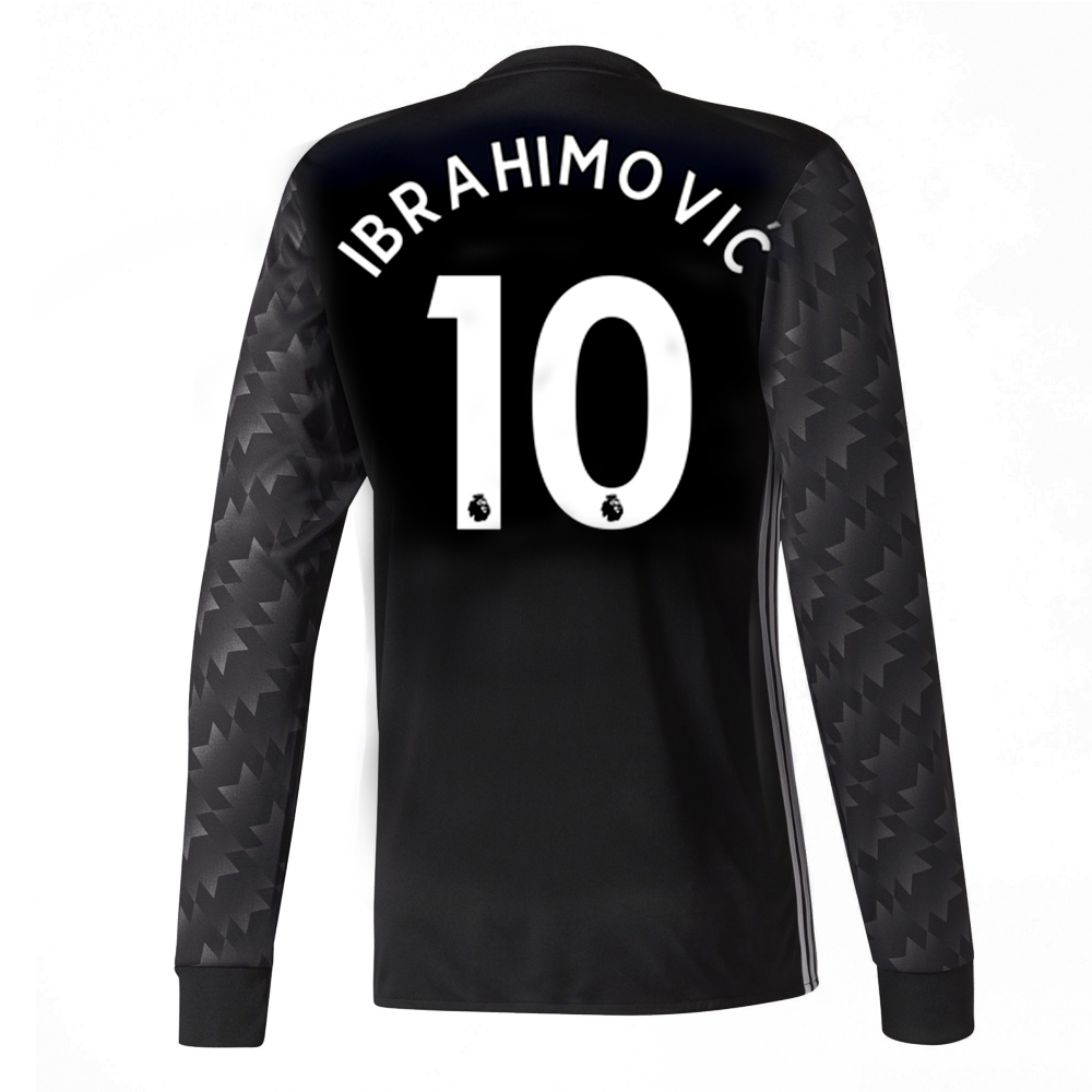 5bf0d3fdd84 Adidas Manchester United  IBRAHIMOVIC 10  Away  17- 18 Long-Sleeve ...