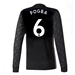 Adidas Manchester United 'POGBA 6' Away '17-'18 Long-Sleeve Soccer Jersey (Black/White/Granite)