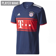 Adidas Bayern Munich Away '17-'18 Soccer Jersey (Collegiate Navy/FCB True Red)