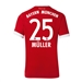 Adidas Bayern Munich 'MULLER 25' Home '17-'18 Soccer Jersey (Red/White)