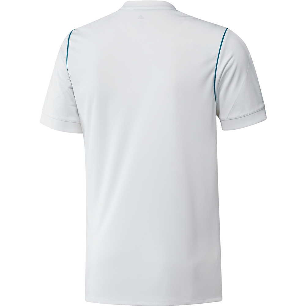 5311e1800 Adidas Real Madrid Home '17-'18 Soccer Jersey (White/Vivid Teal ...
