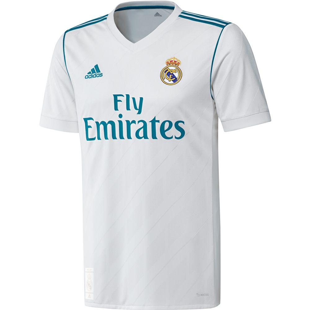 watch b1a0f 1583d Adidas Real Madrid 'BALE 11' Home '17-'18 Soccer Jersey (White/Vivid Teal)