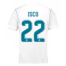Adidas Real Madrid 'ISCO 22' Home '17-'18 Soccer Jersey (White/Vivid Teal)