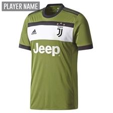 Adidas Juventus Third '17-'18 Soccer Jersey (Craft Green/Black)