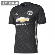 Adidas Manchester United Away Authentic '17-'18 Soccer Jersey (Black/White/Sharp Grey)