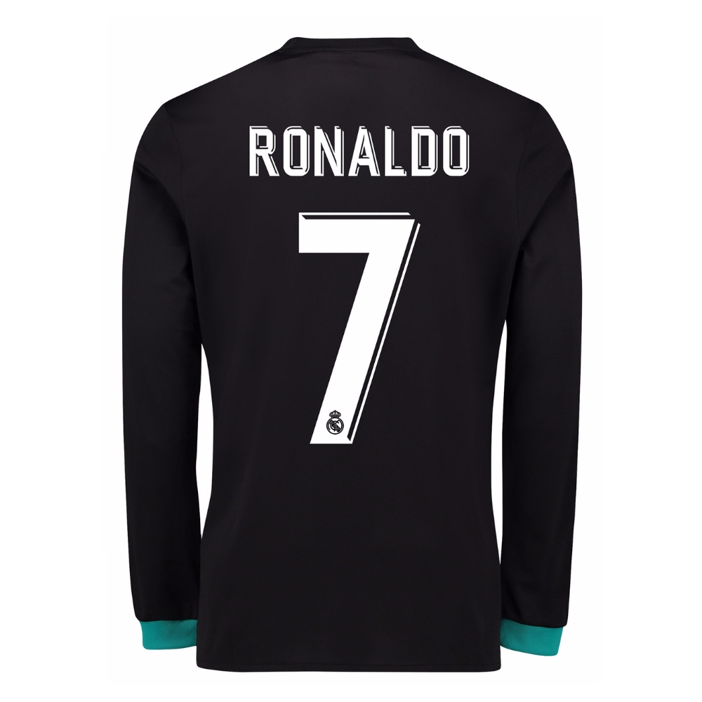 eabaafb45 Adidas Real Madrid  RONALDO 7  Away  17- 18 Long Sleeve Soccer ...