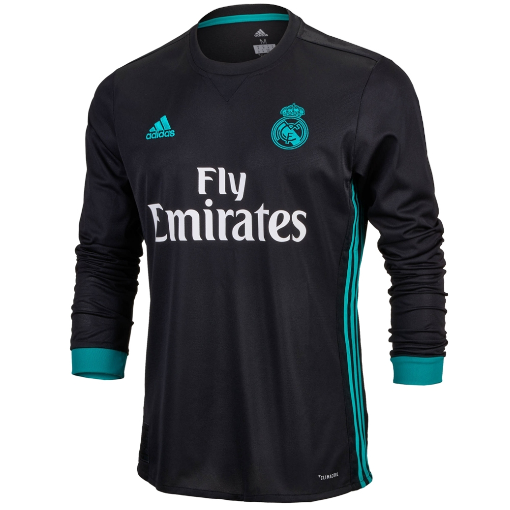 promo code 8ff7f f5976 Adidas Real Madrid 'RONALDO 7' Away '17-'18 Long Sleeve Soccer Jersey  (Black/Aero Reef)