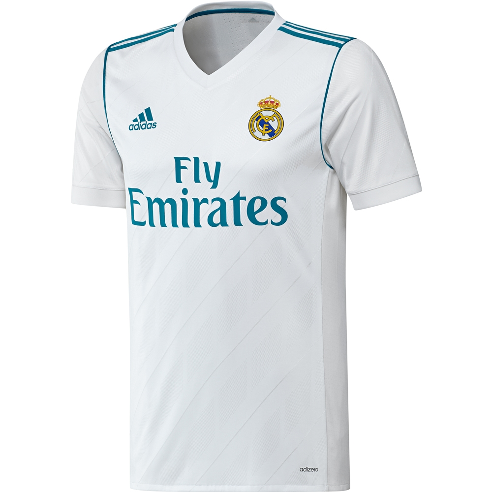 pretty nice cf0f0 028fa Adidas Real Madrid Authentic 'RONALDO 7' Home '17-'18 Soccer Jersey  (White/Vivid Teal)