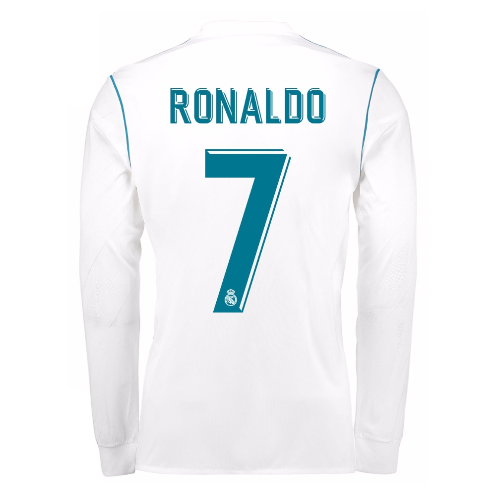 fee875393 Adidas Real Madrid  RONALDO 7  Home  17- 18 Long Sleeve Soccer ...