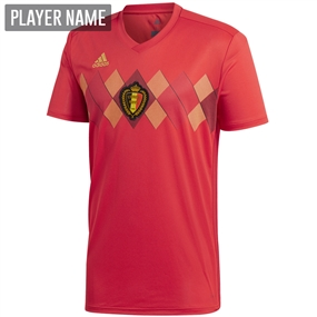 Adidas Belgium Home Jersey '18-'19 (Vivid Red/Power Red/Bold Gold)