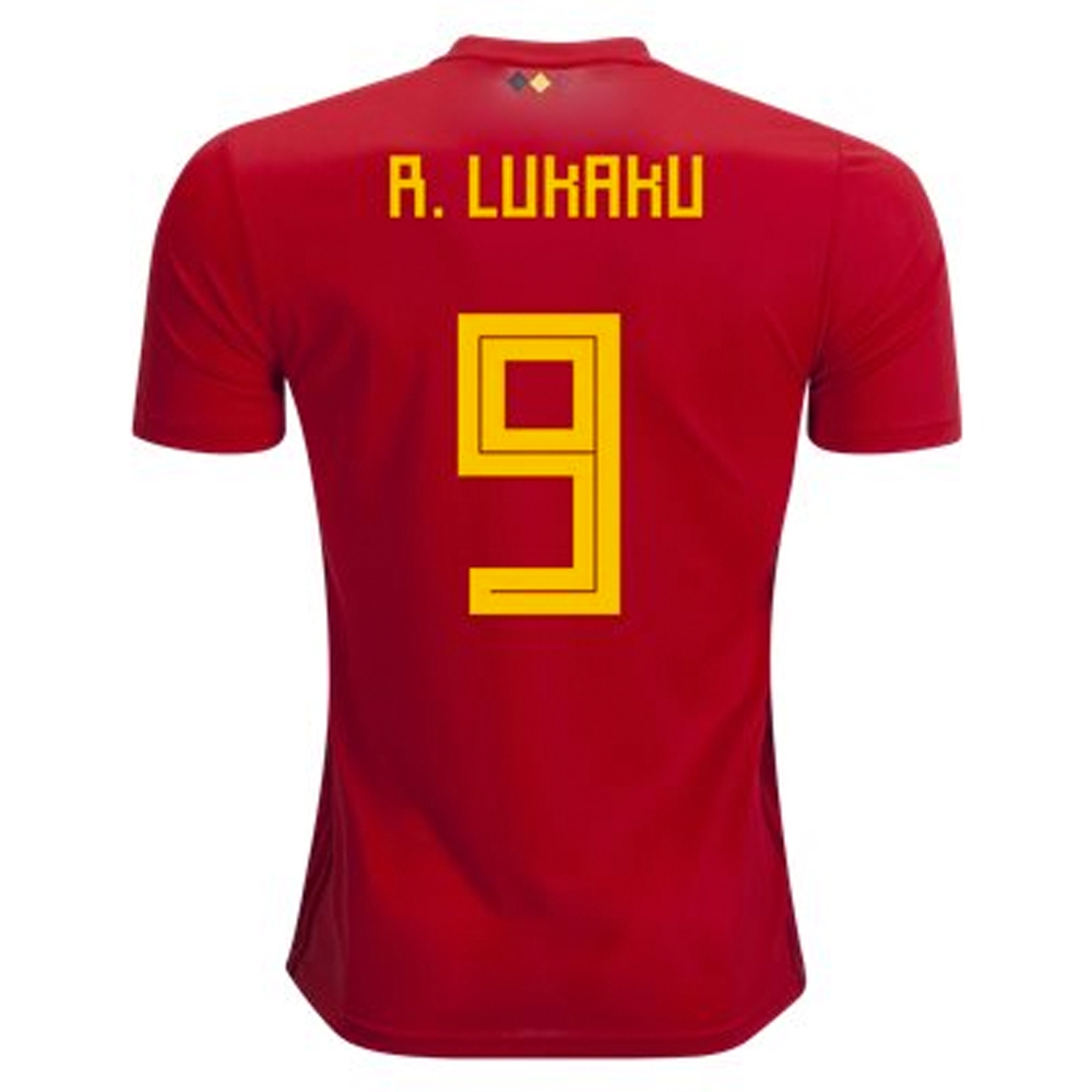 check out 776aa 840f4 Adidas Belgium 'R. LUKAKU 9' Home Jersey '18-'19 (Vivid Red/Power Red/Bold  Gold)