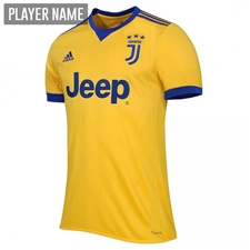 Adidas Juventus Away '17-'18 Soccer Jersey (Bold Gold/Collegiate Royal)