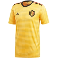 Adidas Belgium Away Jersey '18-'19 (Bold Gold/Black/Vivid Red)