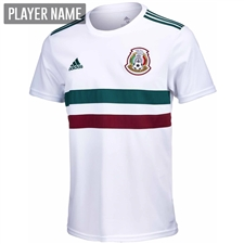 Adidas Mexico Away Jersey '18-'19 (White/Collegiate Green/Burgundy)
