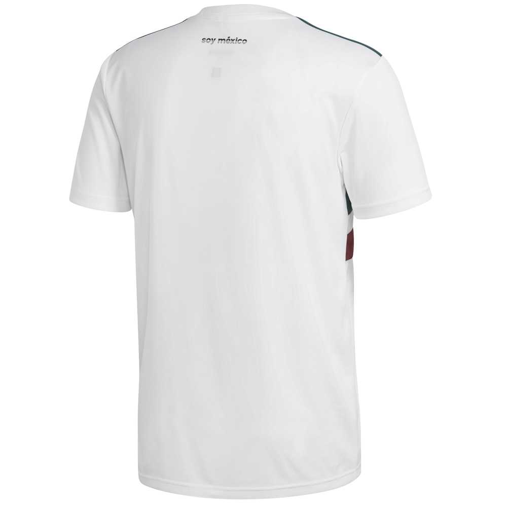 14666450f Adidas Mexico Away Jersey  18- 19 (White Collegiate Green Burgundy ...