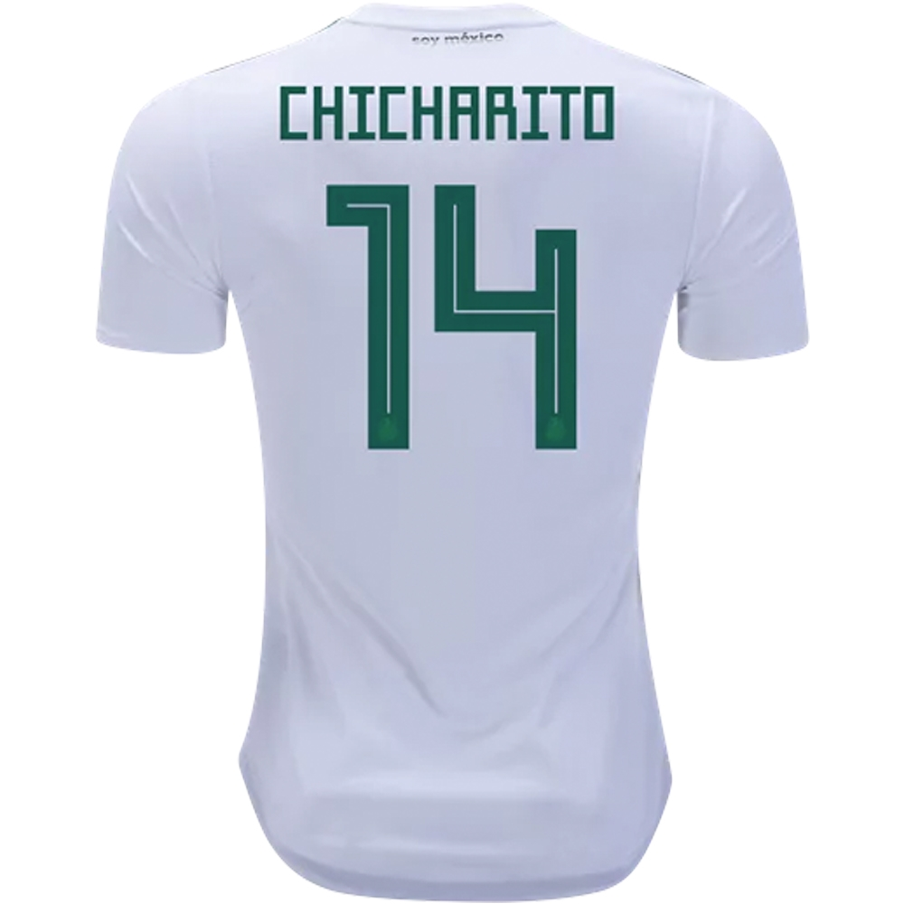46371f348 Adidas Mexico  CHICHARITO 14  Away Jersey  18- 19 (White Collegiate ...