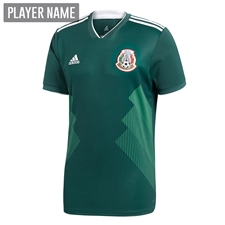Adidas Mexico Home Jersey '18-'19 (Collegiate Green/White)