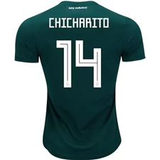 Adidas Mexico 'CHICHARITO 14' Home Jersey '18-'19 (Collegiate Green/White)