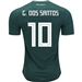 Adidas Mexico 'G. DOS SANTOS 10' Home Jersey '18-'19 (Collegiate Green/White)