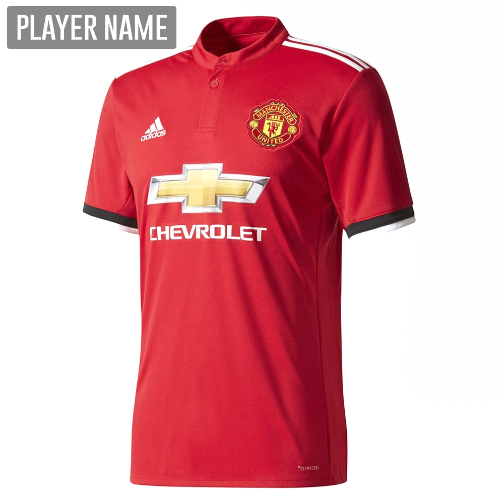adidas manchester united home authentic 17 18 soccer jersey real red