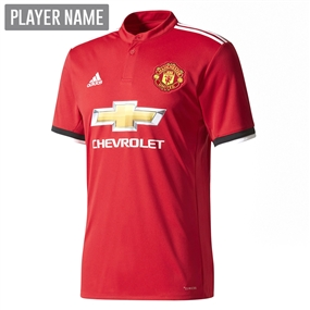 Adidas Manchester United Home Authentic '17-'18 Soccer Jersey (Real Red/White/Black)