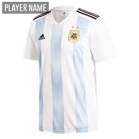 Adidas Argentina Home Jersey '18-'19 (White/Clear Blue/Black)