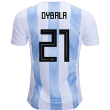 Adidas Argentina 'DYBALA 21' Home Jersey '18-'19 (White/Clear Blue/Black)