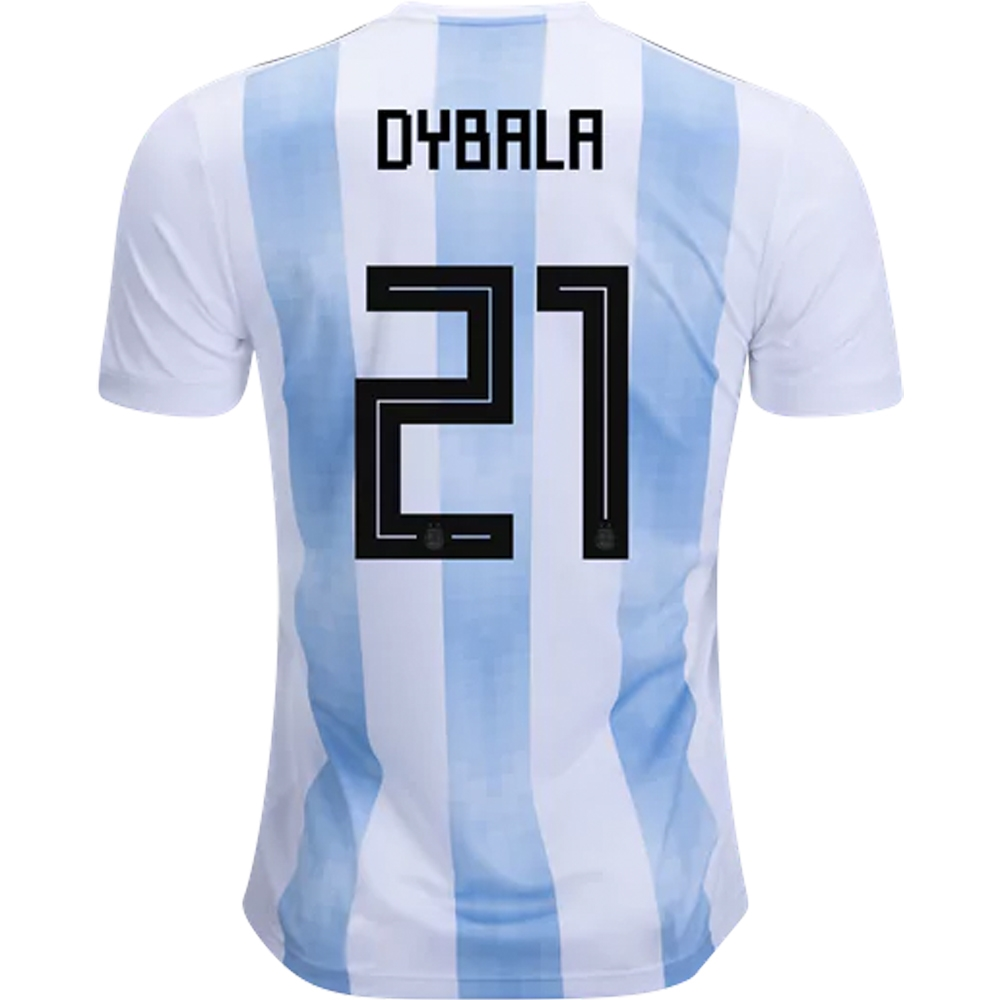 on sale d5884 d2438 Adidas Argentina 'DYBALA 21' Home Jersey '18-'19 (White/Clear Blue/Black)